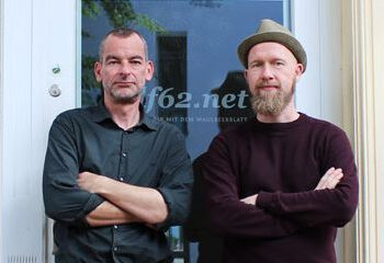 Jörn Paschke und Matthias Vorbau vor dem Heiligsten