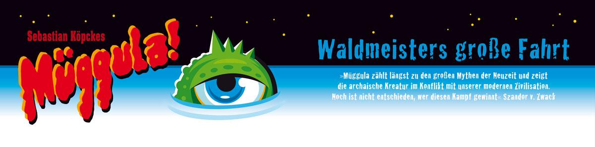 Müggulas Auge blickt über die Wasseroberfläche
