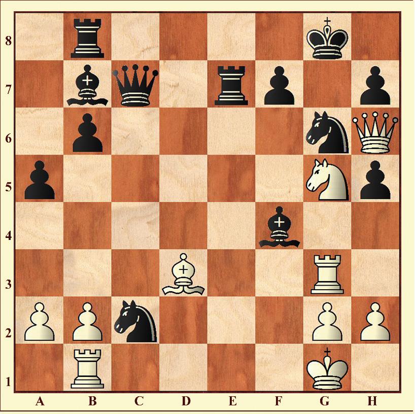 Weiß gewinnt (Matt in spätestens sechs Zügen)