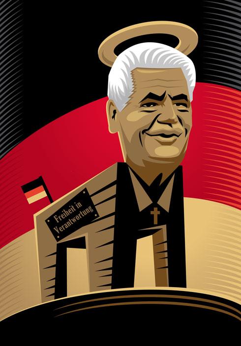 Gauck als hölzernes Pferd