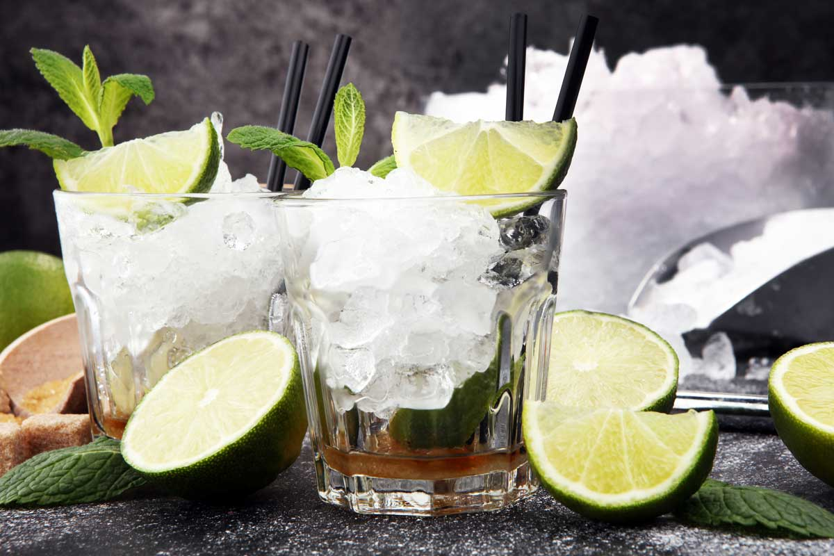 Caipirinha, Limonen, Eis, Minze