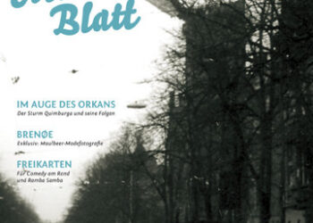 maulbeerblatt Ausgabe 5 mit Abbildung des Sturmschades am Turm der Christopheroskirche in Berlin Friedrichshagen