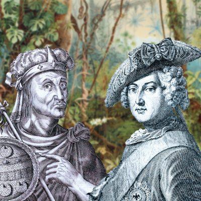 Friedrich der Große und Montezuma in der Oper