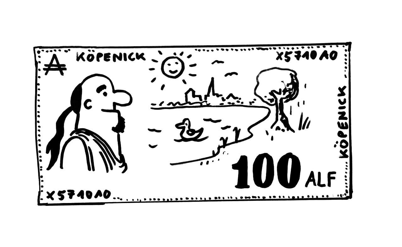 100 Alf – die neue Köpenicker Regionalwährung