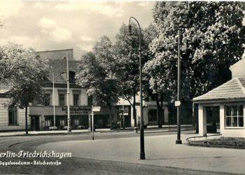 Historische Ansicht Bölschestraße / Ecke Müggelseedamm mit ebenjenem Kastanienbaum