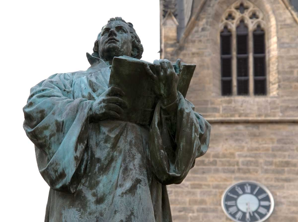 Martin Luther aus Bronze