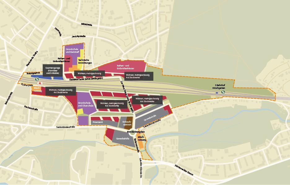 Strukturplan Güterbahnhof