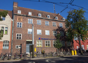 Das Gebäude der Friedrichshagner Post in der Bölschestraße