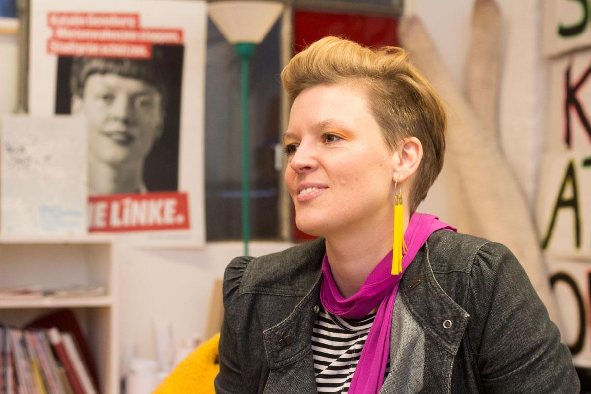 Die Abgeordnete der LINKEN Katalin Gennburg im Interview
