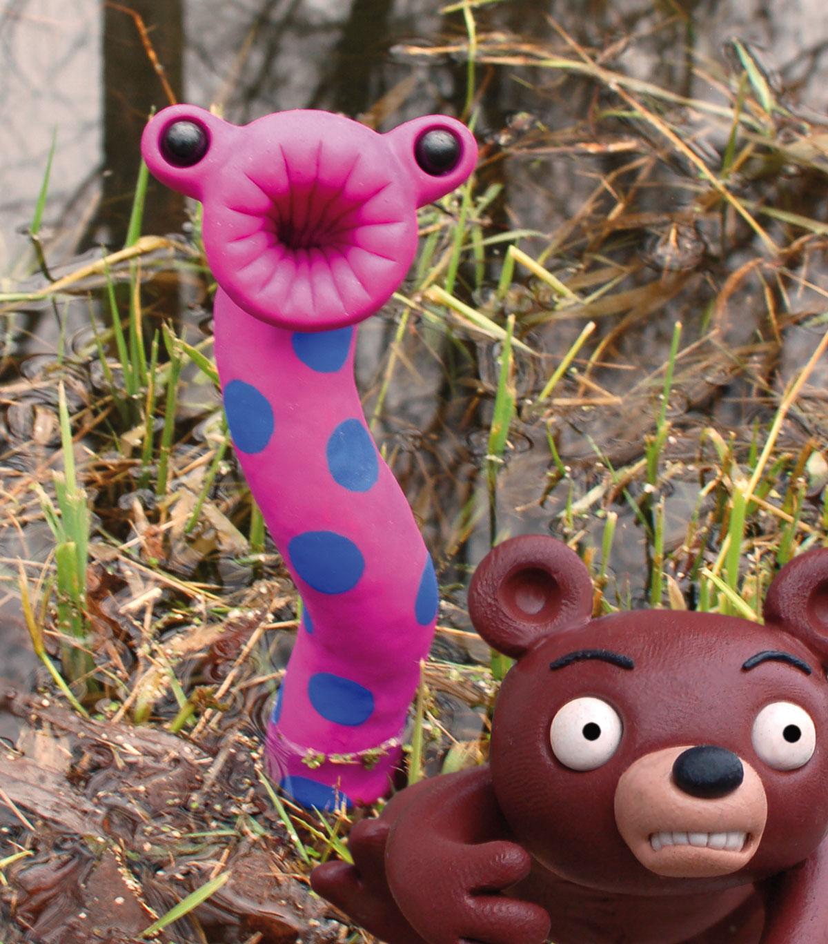 Der wilde Wuhlebär auf der Flucht vor Wuzilla.
