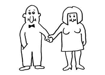 Der treue Ehemann mit seiner Ehefrau