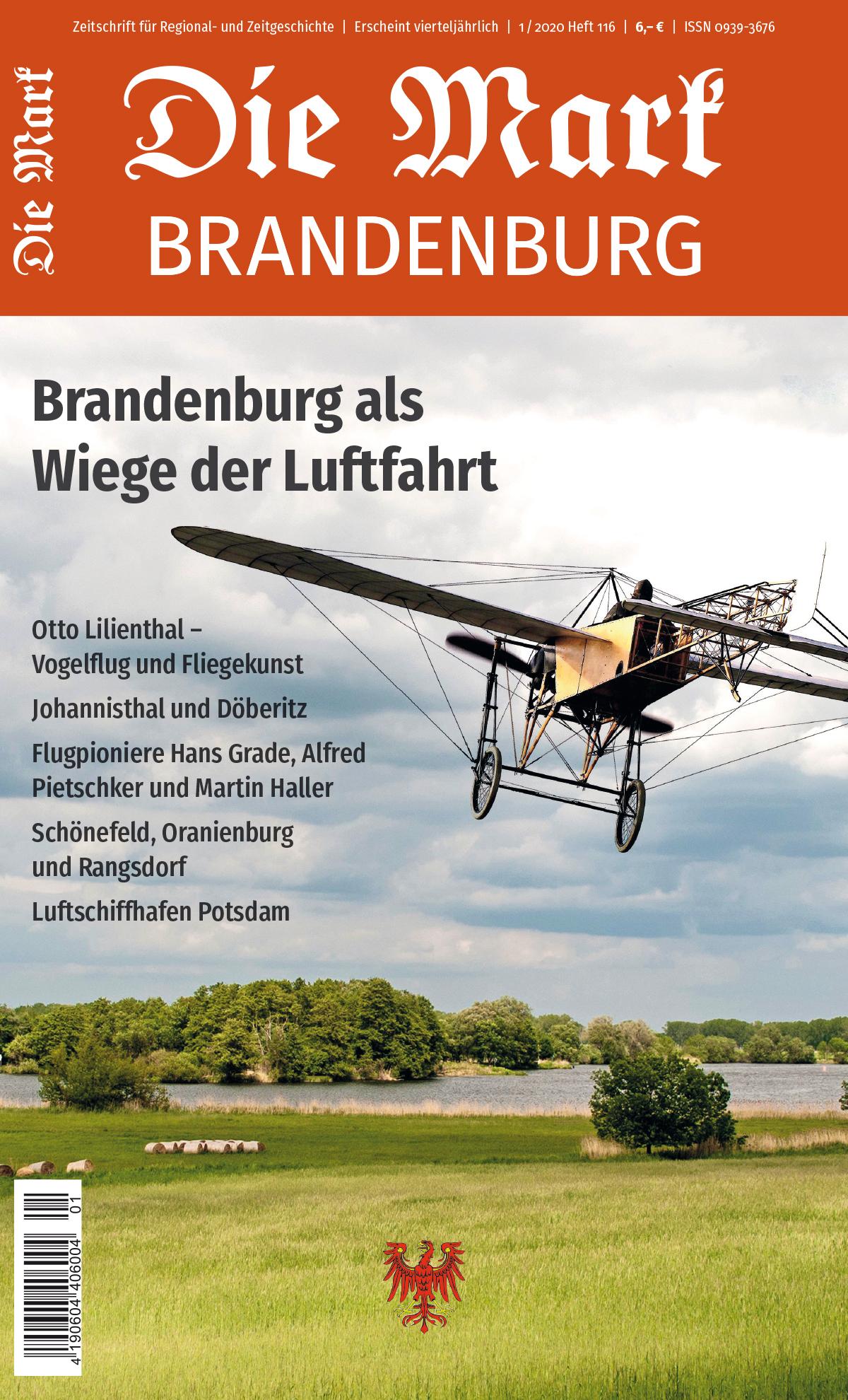 Der Titel der Zeitschrift Die Mark Brandenburg