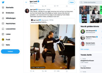 Igor Levits Twitterkanalkonzerte