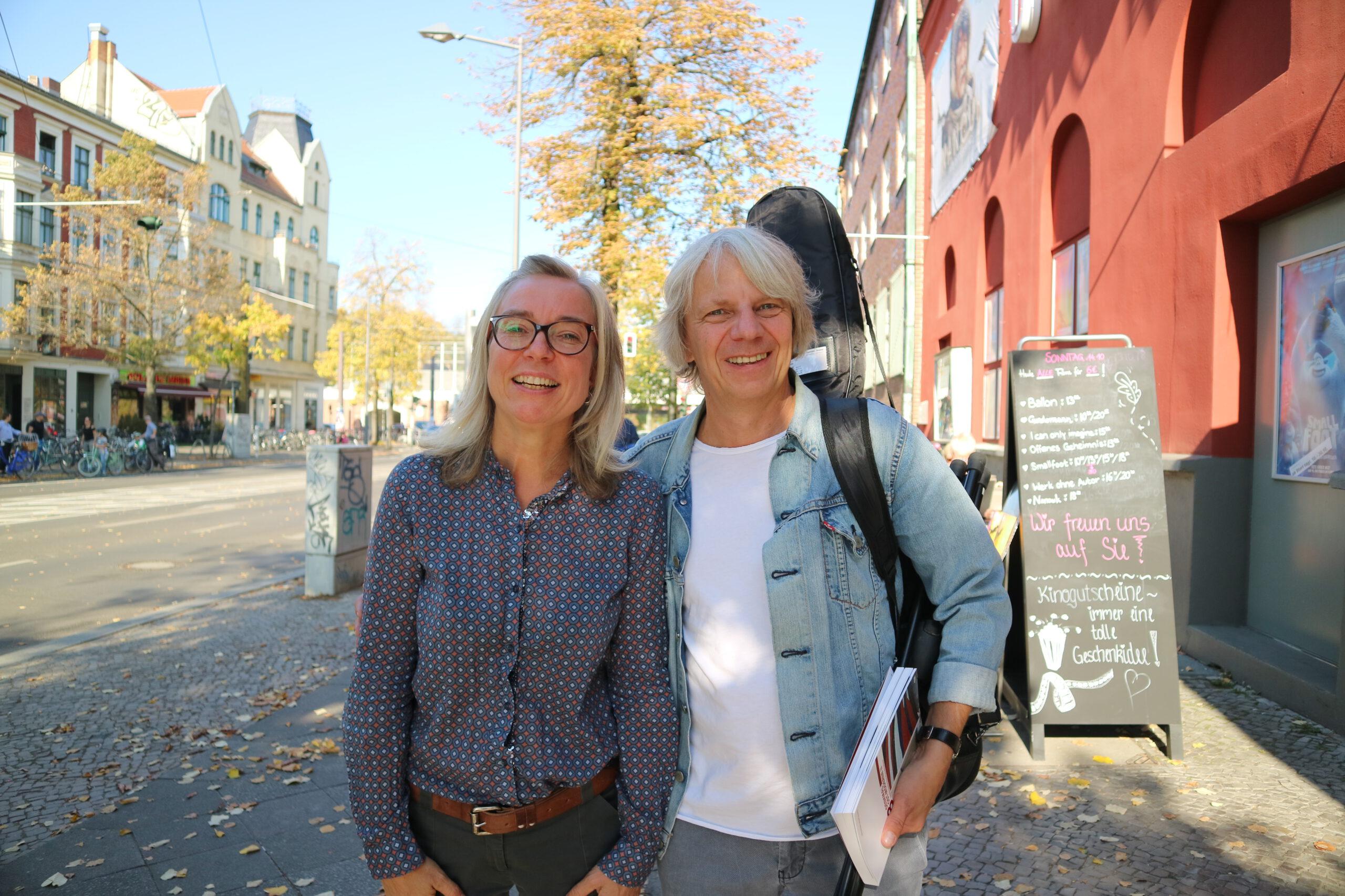 Moderatorin Danuta Schmidt mit ihrem Gast Andreas Dresen.