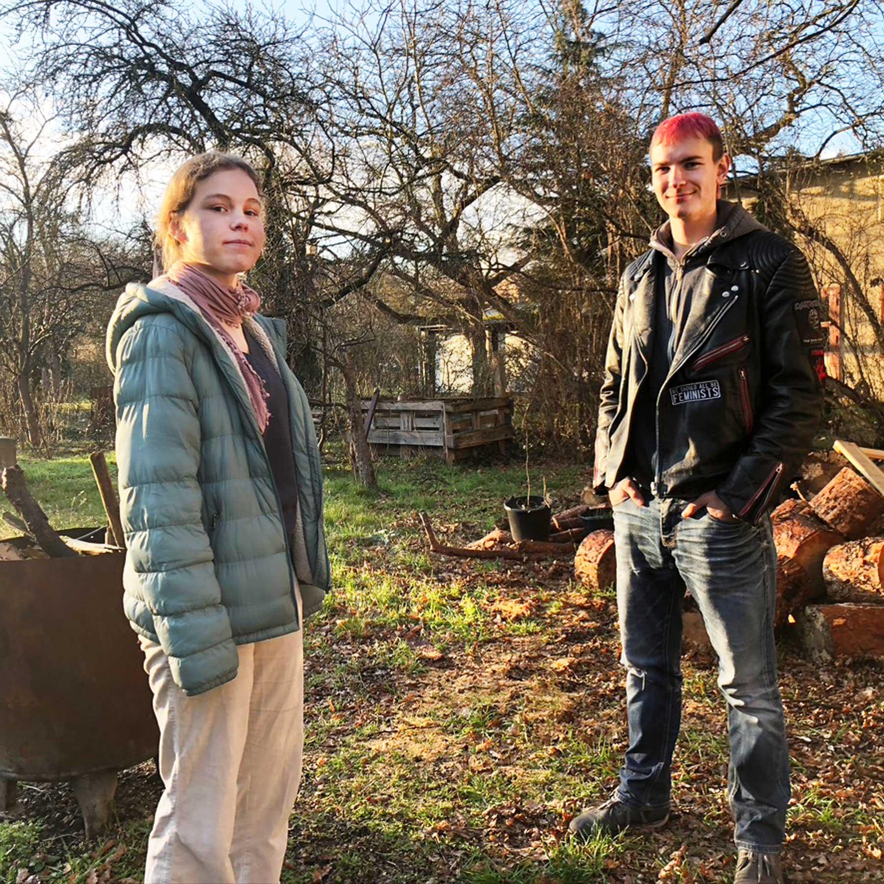Emily und Phil von fridays for future in Treptow-Köpenick