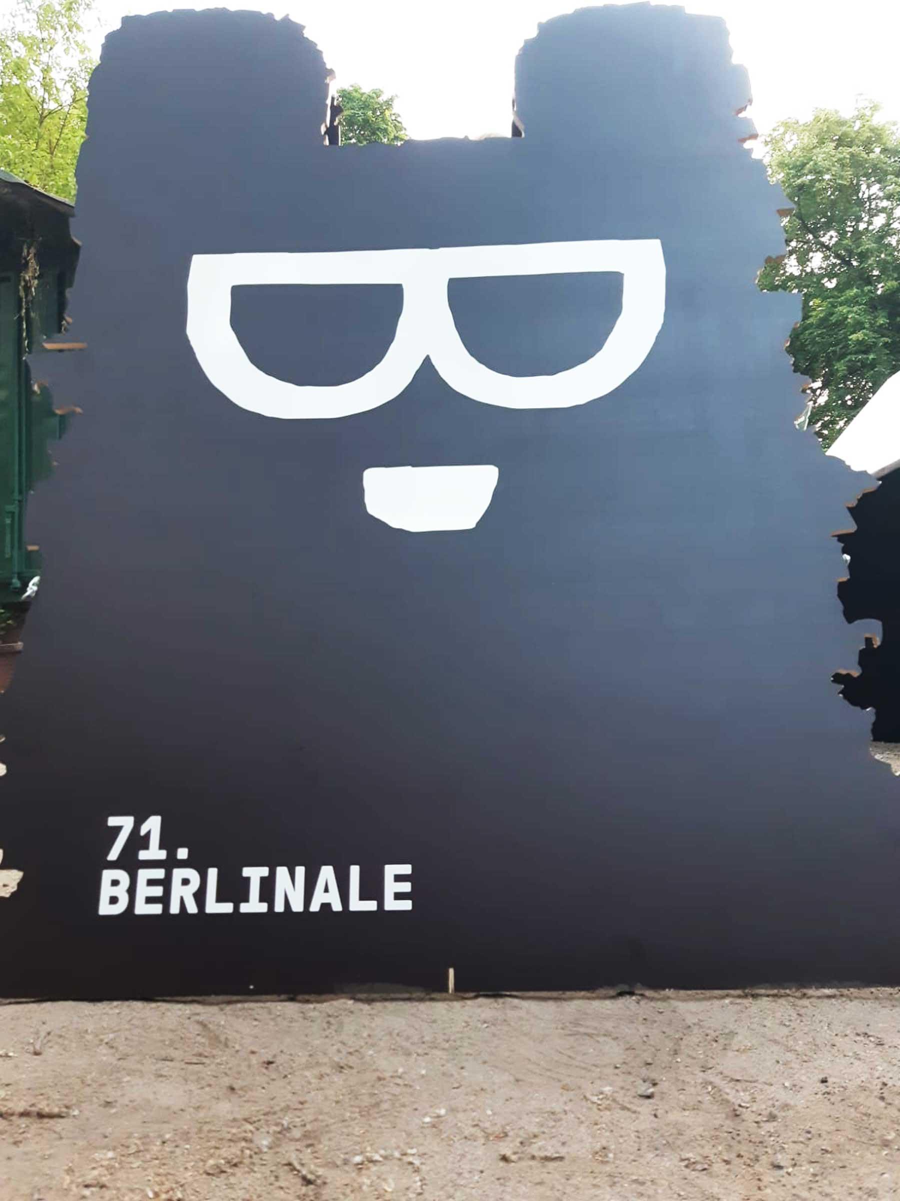 Aufsteller zur 71. Berlinale