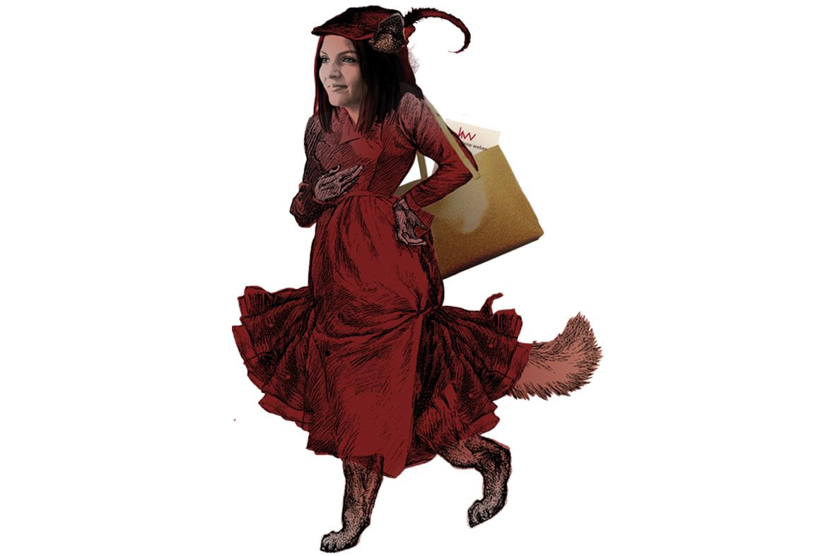 Ana-Maria Trăsnea als rote Katzendame