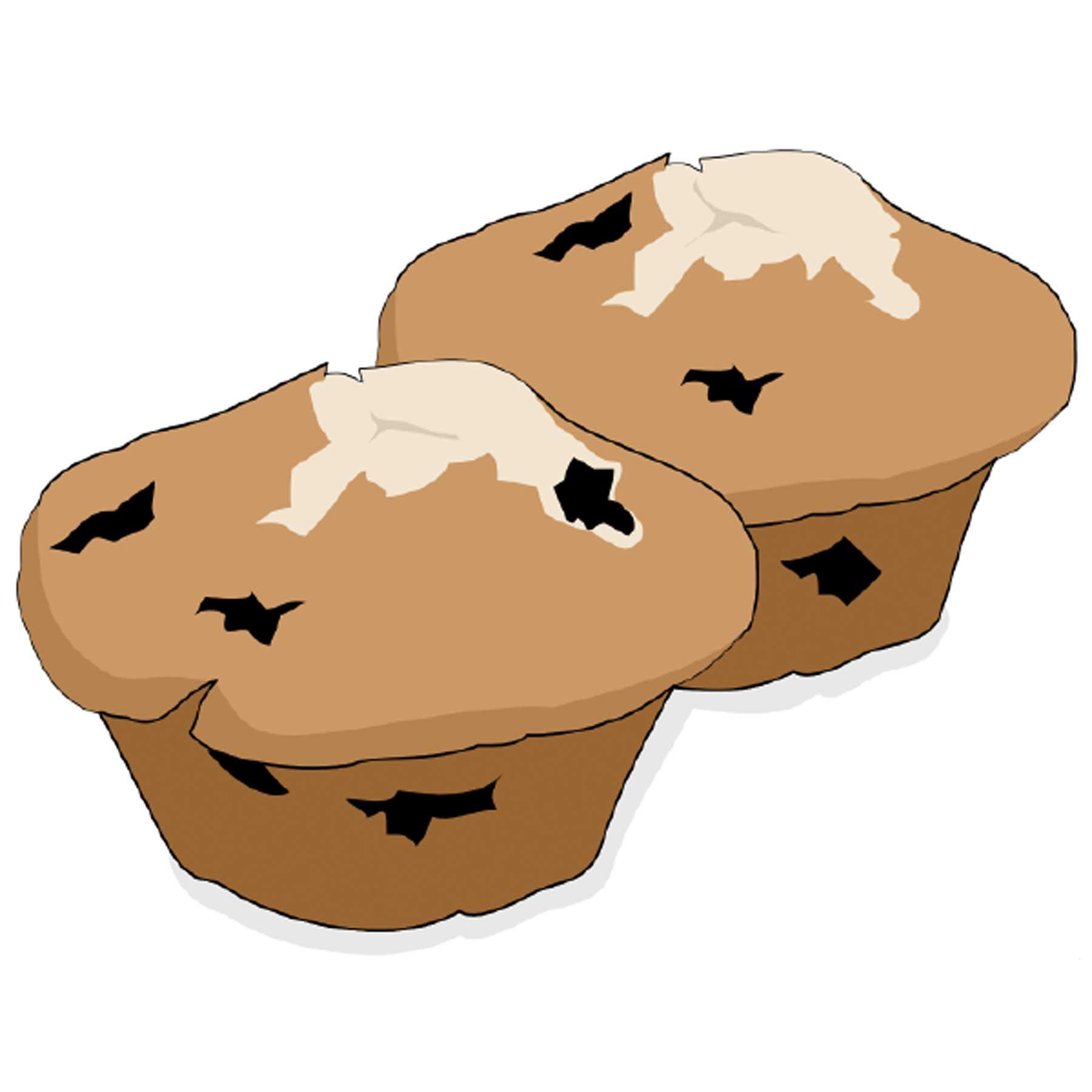 Zwei Muffins im Clipart-Style